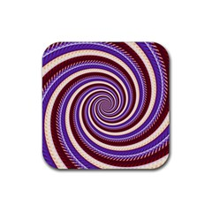 Woven Spiral Rubber Square Coaster (4 Pack)  by designworld65