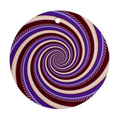 Woven Spiral Round Ornament (two Sides) by designworld65