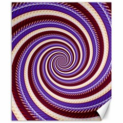 Woven Spiral Canvas 8  X 10  by designworld65