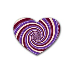 Woven Spiral Heart Coaster (4 Pack)  by designworld65
