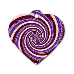 Woven Spiral Dog Tag Heart (one Side) by designworld65