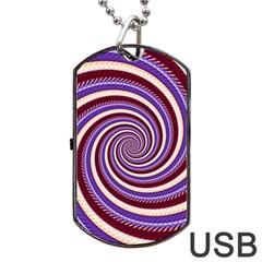 Woven Spiral Dog Tag Usb Flash (two Sides) by designworld65
