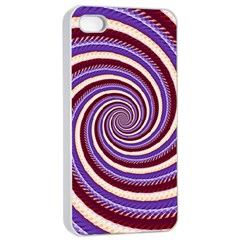 Woven Spiral Apple Iphone 4/4s Seamless Case (white) by designworld65
