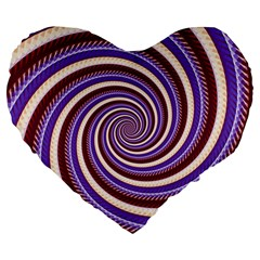 Woven Spiral Large 19  Premium Heart Shape Cushions by designworld65