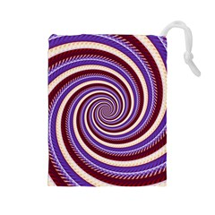 Woven Spiral Drawstring Pouches (large)  by designworld65