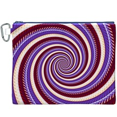 Woven Spiral Canvas Cosmetic Bag (xxxl) by designworld65