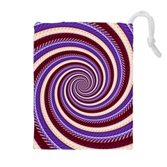 Woven Spiral Drawstring Pouches (extra Large) by designworld65