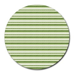 Spring Stripes Round Mousepads by designworld65