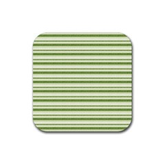 Spring Stripes Rubber Coaster (square)  by designworld65