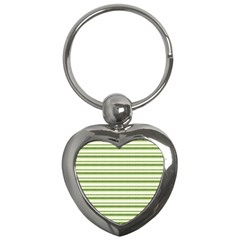 Spring Stripes Key Chains (heart)  by designworld65