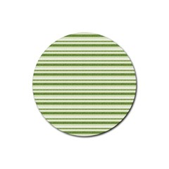 Spring Stripes Rubber Round Coaster (4 Pack)  by designworld65