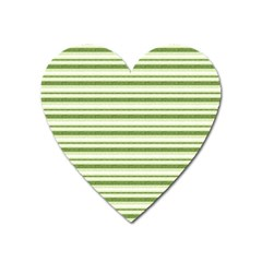Spring Stripes Heart Magnet by designworld65