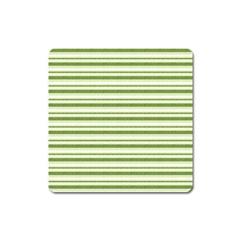 Spring Stripes Square Magnet by designworld65