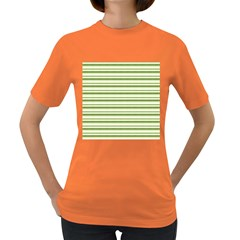 Spring Stripes Women s Dark T Shirt by designworld65