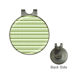 Spring Stripes Hat Clips With Golf Markers by designworld65