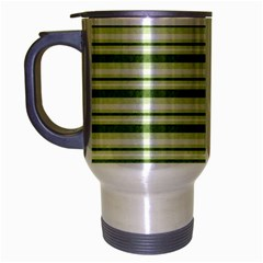 Spring Stripes Travel Mug (silver Gray) by designworld65