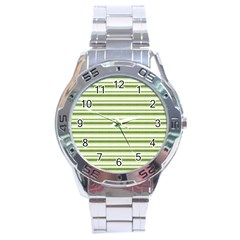 Spring Stripes Stainless Steel Analogue Watch by designworld65