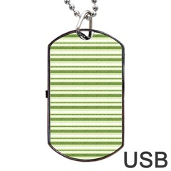 Spring Stripes Dog Tag Usb Flash (one Side) by designworld65