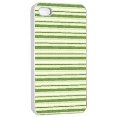 Spring Stripes Apple Iphone 4/4s Seamless Case (white) by designworld65