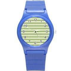 Spring Stripes Round Plastic Sport Watch (s) by designworld65