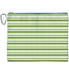Spring Stripes Canvas Cosmetic Bag (xxxl) by designworld65