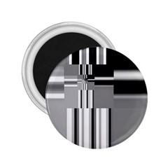 Black And White Endless Window 2 25  Magnets by designworld65