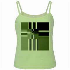 Black And White Endless Window Green Spaghetti Tank by designworld65