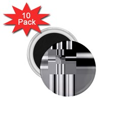 Black And White Endless Window 1 75  Magnets (10 Pack)  by designworld65