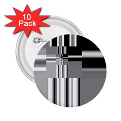 Black And White Endless Window 2 25  Buttons (10 Pack)  by designworld65