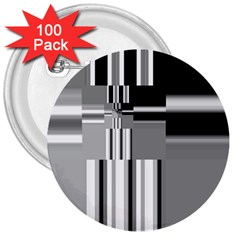 Black And White Endless Window 3  Buttons (100 Pack)  by designworld65