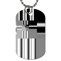 Black And White Endless Window Dog Tag (two Sides) by designworld65