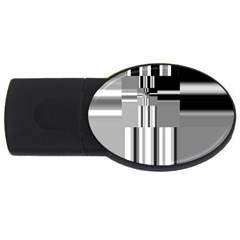 Black And White Endless Window Usb Flash Drive Oval (4 Gb) by designworld65