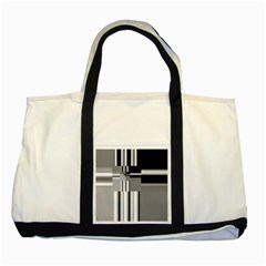Black And White Endless Window Two Tone Tote Bag by designworld65