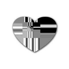 Black And White Endless Window Heart Coaster (4 Pack)  by designworld65