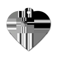 Black And White Endless Window Dog Tag Heart (one Side) by designworld65