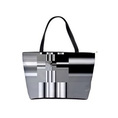 Black And White Endless Window Shoulder Handbags by designworld65