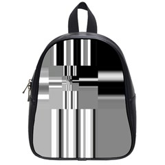 Black And White Endless Window School Bag (small) by designworld65