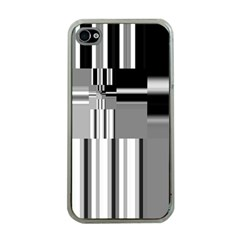 Black And White Endless Window Apple Iphone 4 Case (clear) by designworld65