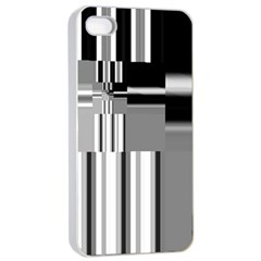 Black And White Endless Window Apple Iphone 4/4s Seamless Case (white) by designworld65