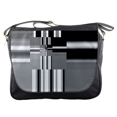 Black And White Endless Window Messenger Bags by designworld65