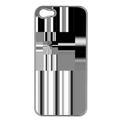 Black And White Endless Window Apple Iphone 5 Case (silver) by designworld65