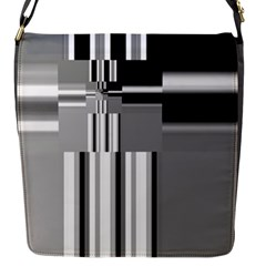 Black And White Endless Window Flap Messenger Bag (s) by designworld65