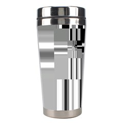 Black And White Endless Window Stainless Steel Travel Tumblers by designworld65