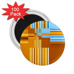 Endless Window Blue Gold 2 25  Magnets (100 Pack)  by designworld65