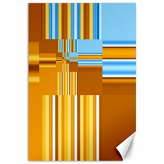 Endless Window Blue Gold Canvas 12  X 18   by designworld65