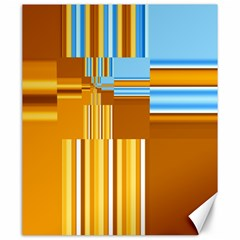 Endless Window Blue Gold Canvas 20  X 24   by designworld65