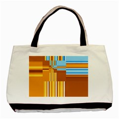 Endless Window Blue Gold Basic Tote Bag (two Sides) by designworld65