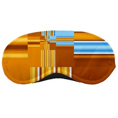 Endless Window Blue Gold Sleeping Masks by designworld65