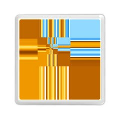 Endless Window Blue Gold Memory Card Reader (square)  by designworld65