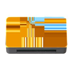 Endless Window Blue Gold Memory Card Reader With Cf by designworld65